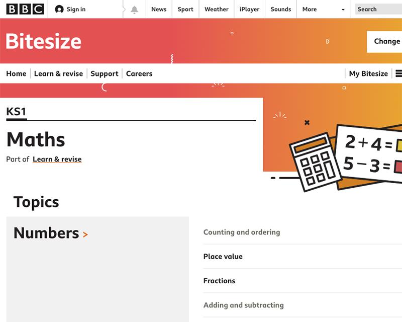 Bitesize BBC website