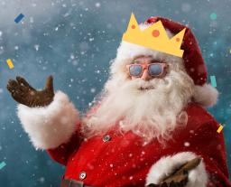 Rooster Hero Santa Claus